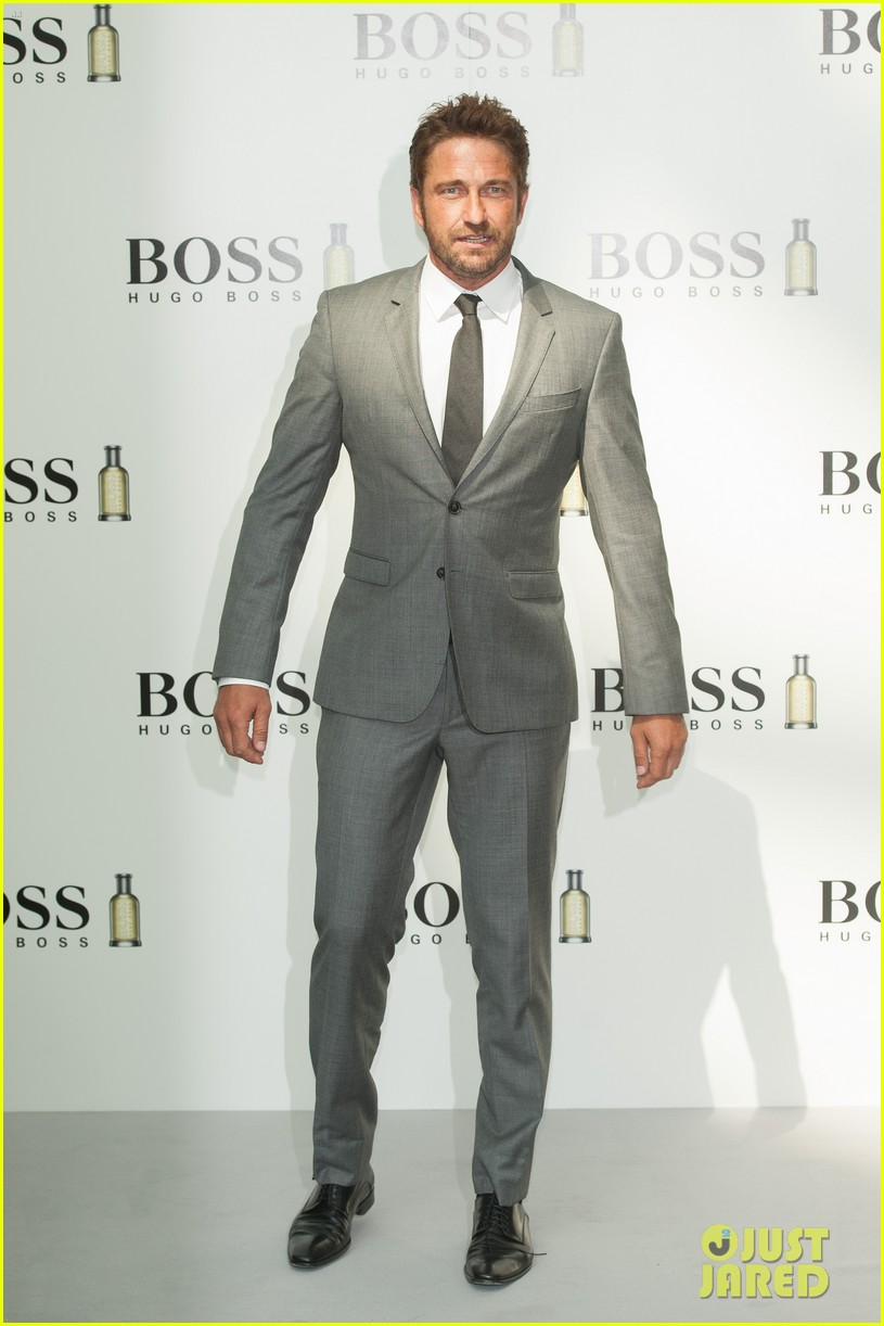 gerard butler unveiled as face of boss bottled 10