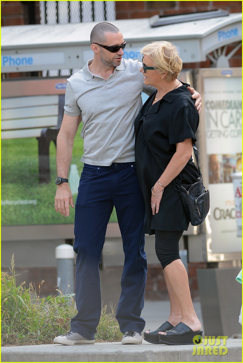 hugh jackman looks lovey dovey with wife after shaving his beard 073188450