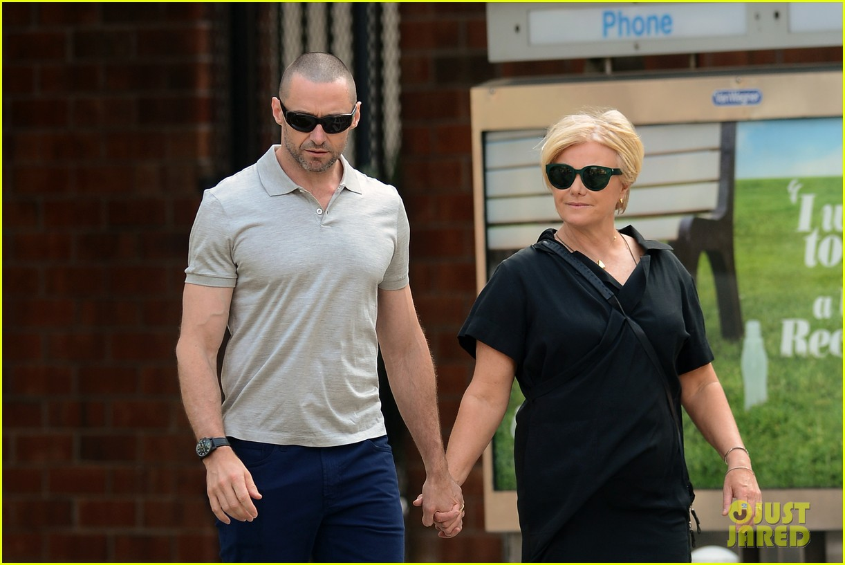 hugh jackman looks lovey dovey with wife after shaving his beard 09