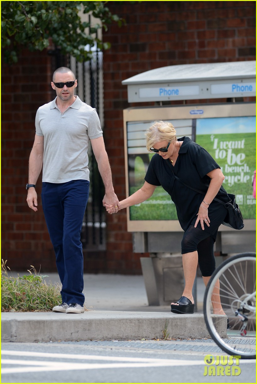hugh jackman looks lovey dovey with wife after shaving his beard 193188462