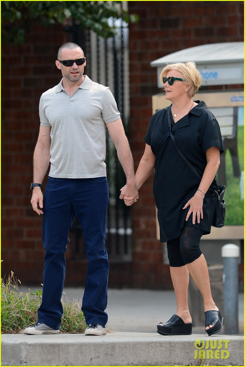 hugh jackman looks lovey dovey with wife after shaving his beard 27