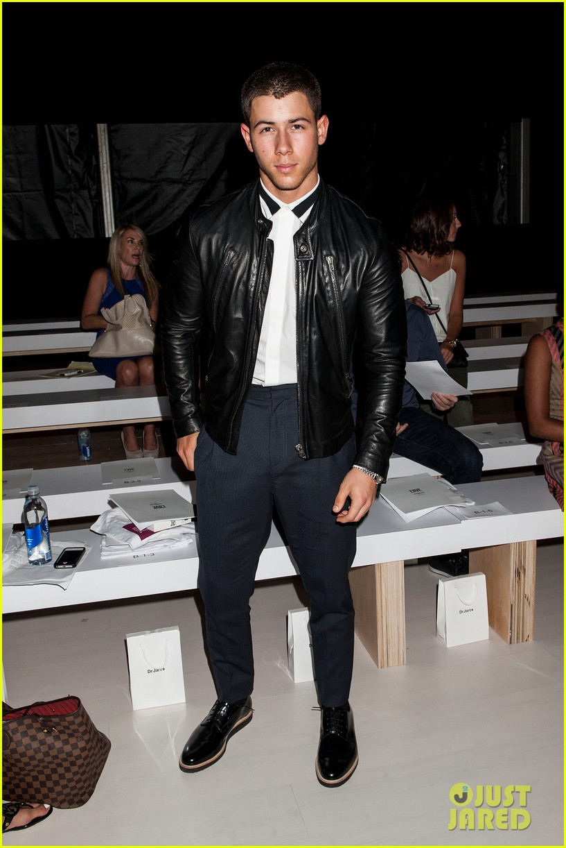 nick joe jonas richard chai fashion show 053189205