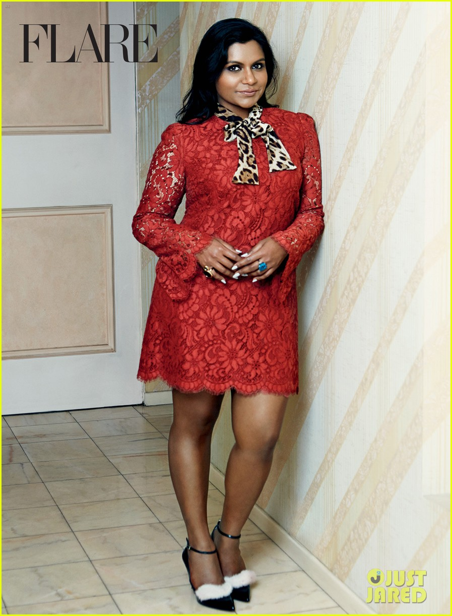 mindy kaling covers flare october 2014 exclusive pic 03