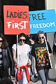 kendall jenner cara delevingne protest after karl largerfield runway 16