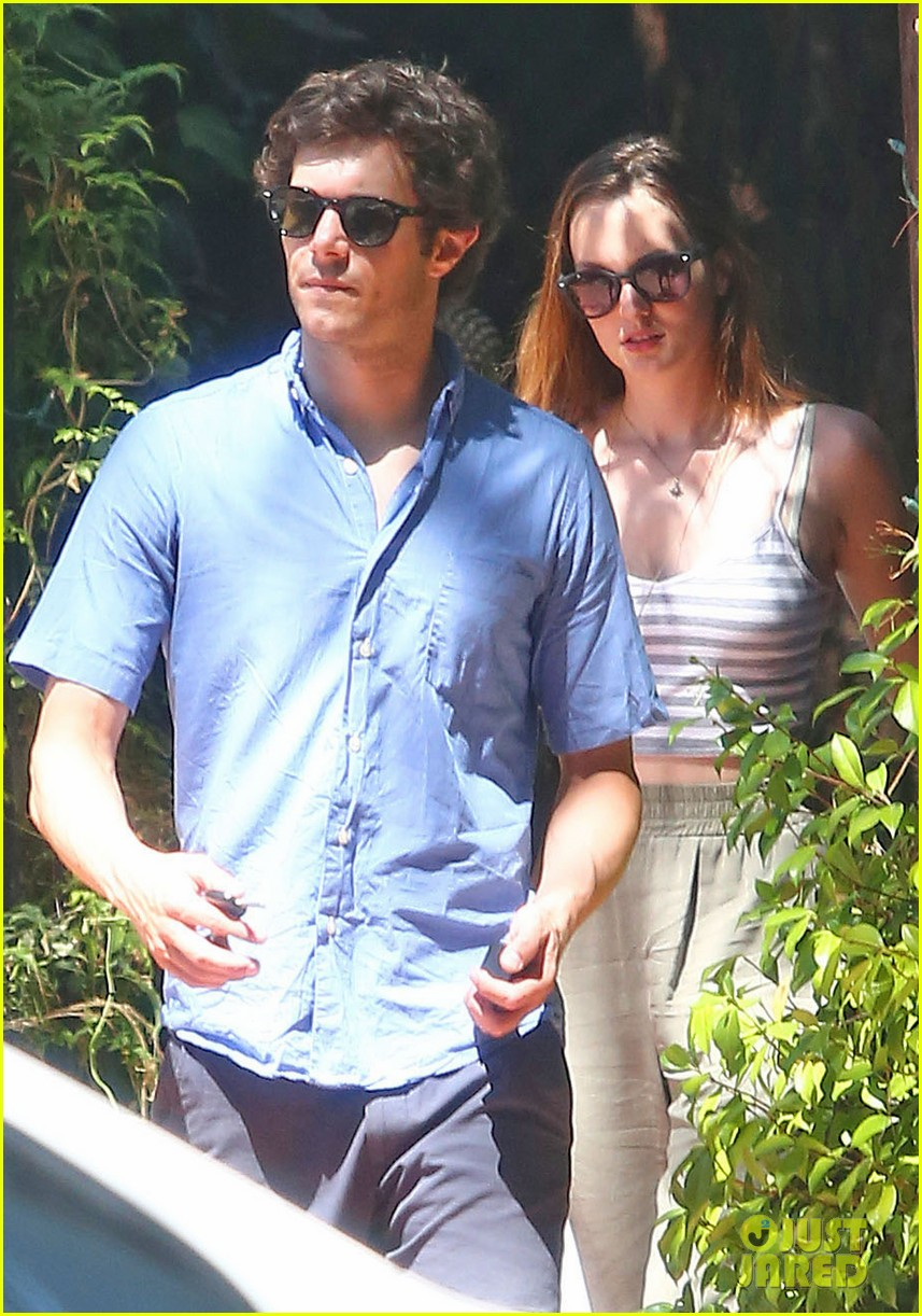 leighton meester adam brody share sweet embrace after lunch 043187288