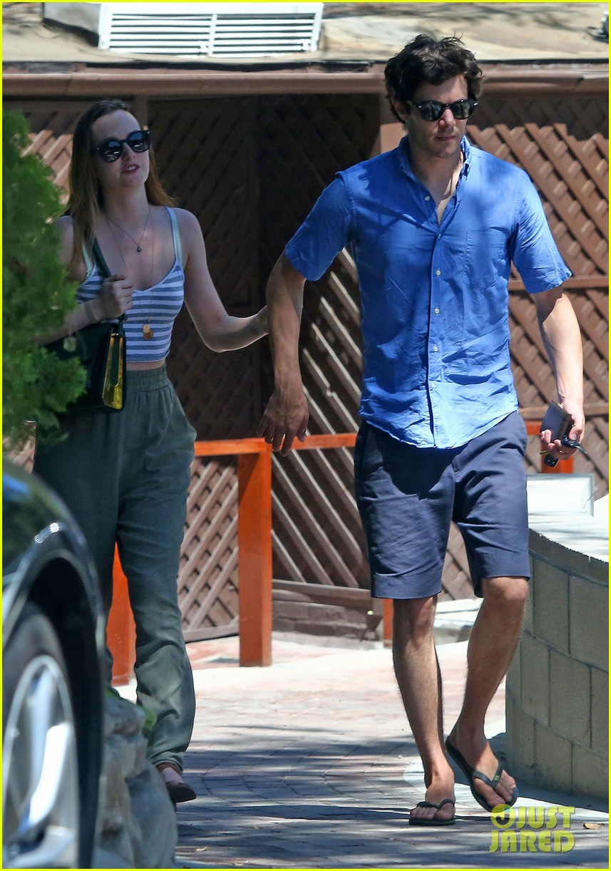 leighton meester adam brody share sweet embrace after lunch 05