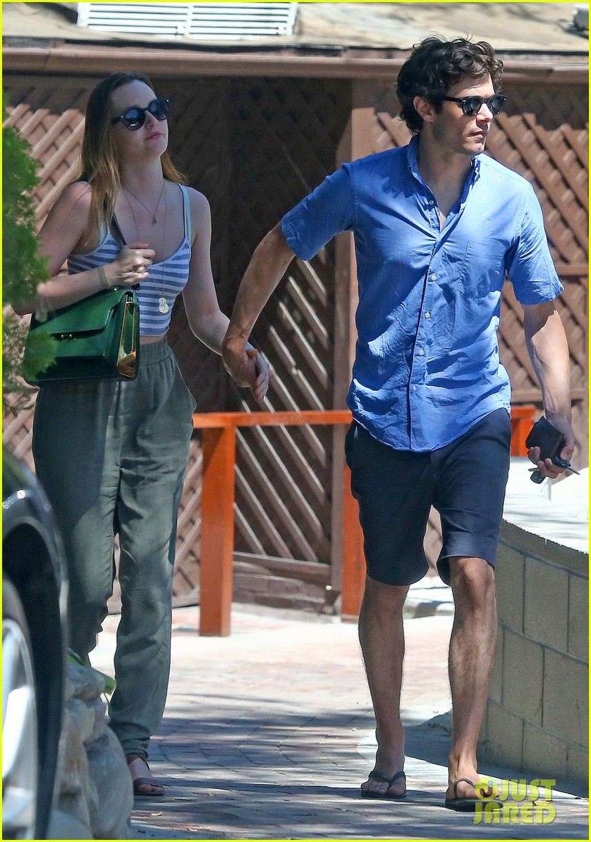 leighton meester adam brody share sweet embrace after lunch 113187295