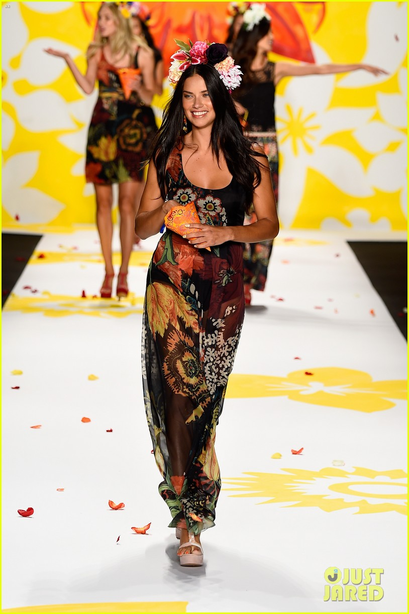 adriana lima walks the runway for desigual fashion show 083189474