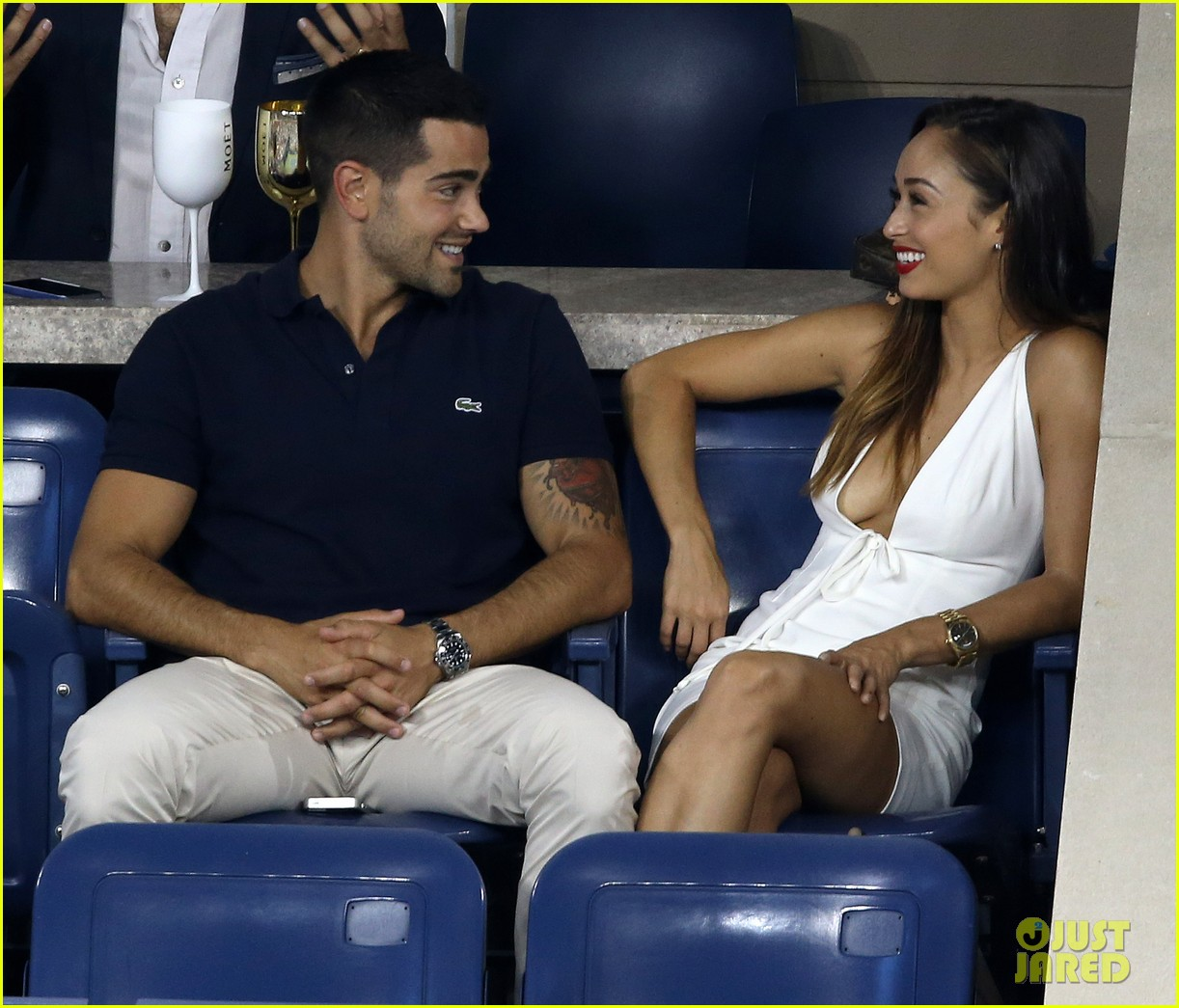 jesse metcalfe cara santana watch the us open with moet 08
