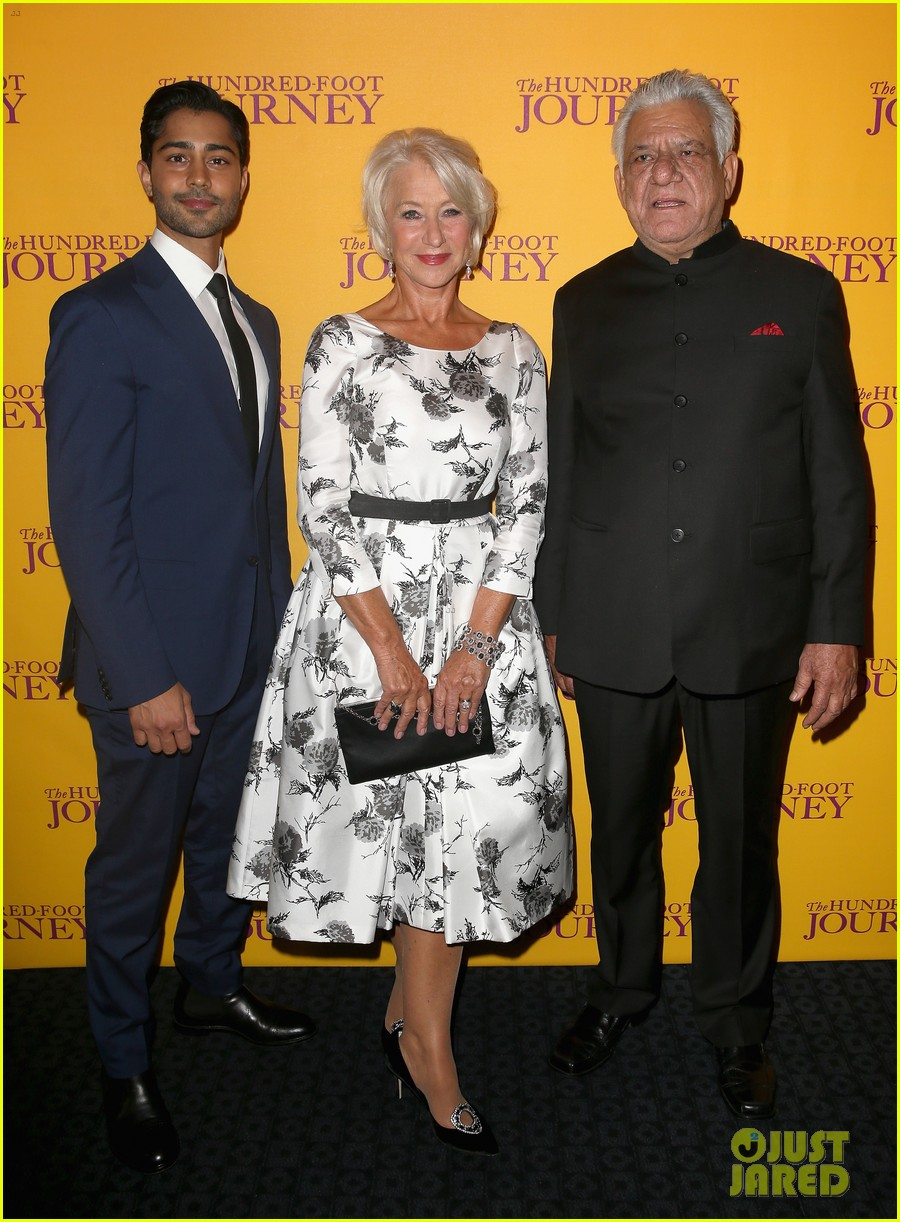 helen mirren joins co stars at hundred foot journey uk gala 043188977