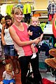 heather morris son elijah step out after engagement 01