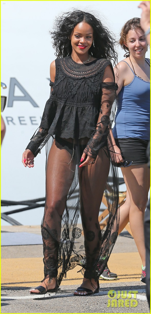 rihanna wears see through cover up on vacation 10