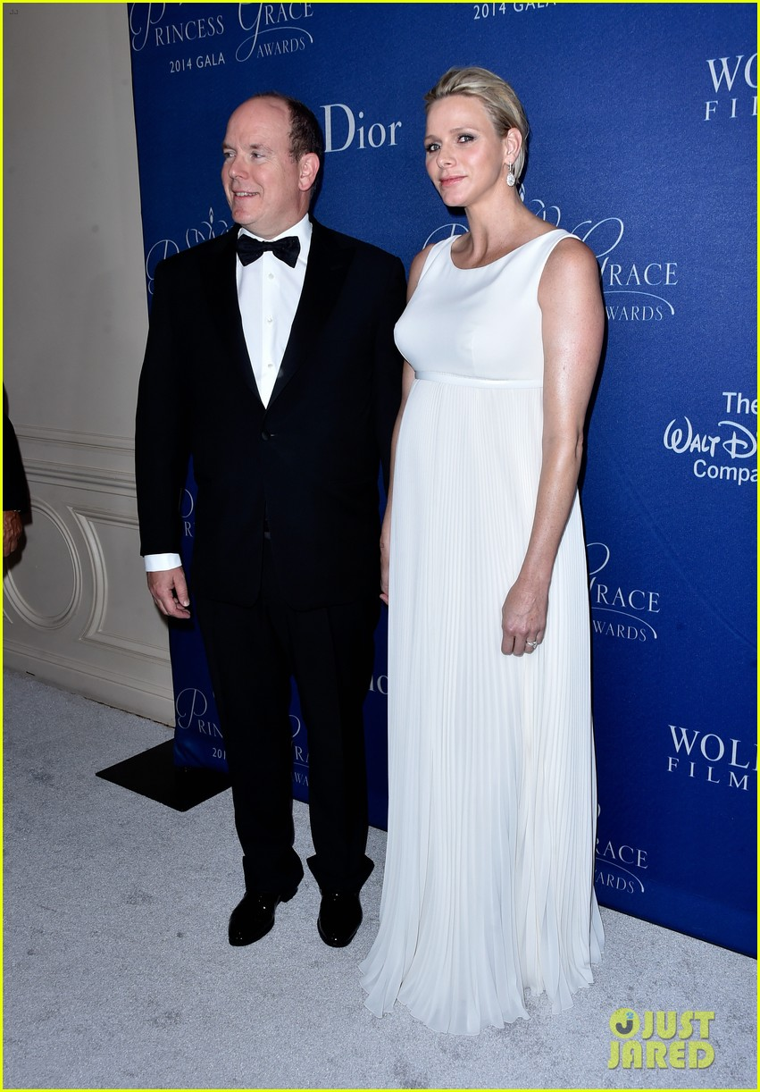 princess charlene hits the red carpet is pregnant with twins 023214413