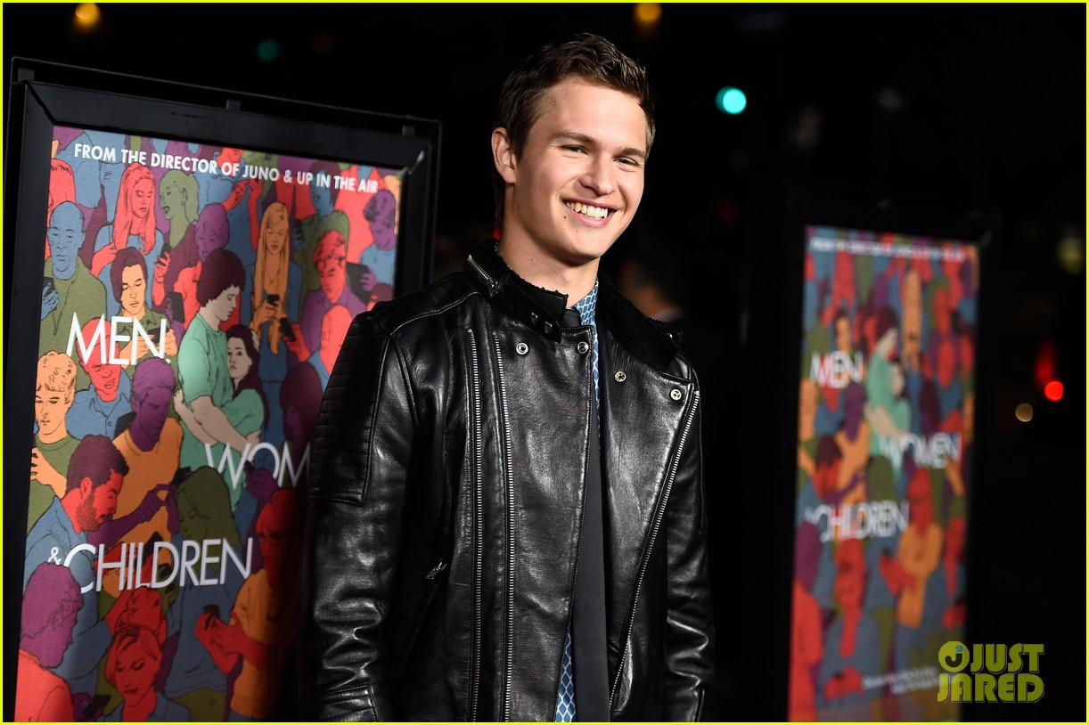 ansel elgort kaitlyn dever men women children premiere 14
