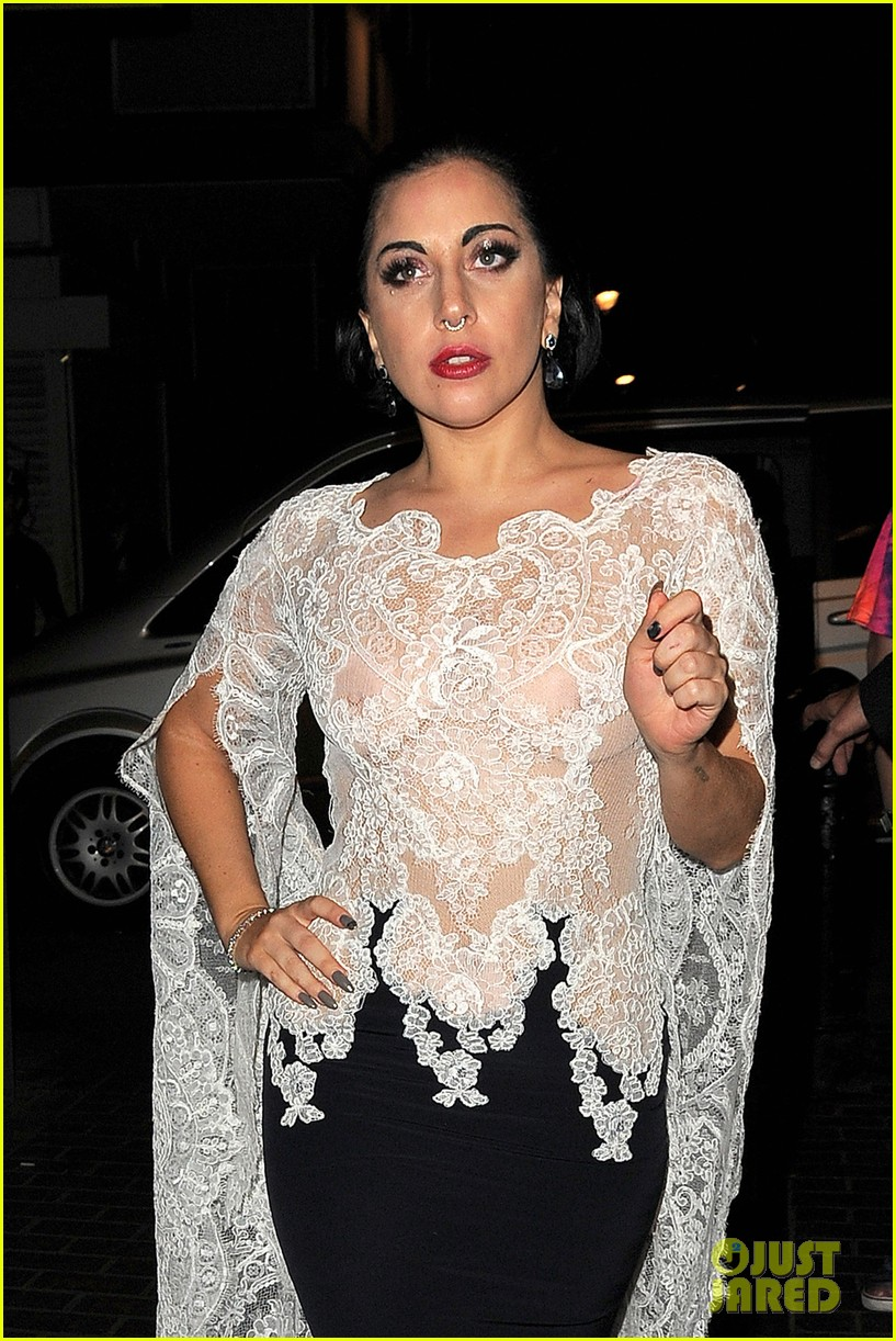 Full Sized Photo Of Lady Gaga Nipples Get Cameras Flashing In London 10 Photo 3226146 Just Jared