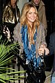 lindsay lohan fur jack dinner london 13