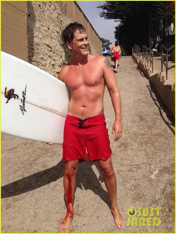 rob lowe hurts himself while surfing still looks incredibly hot posing shirtless 02