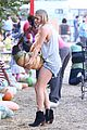 leann rimes lifts a huge pumpkin 07
