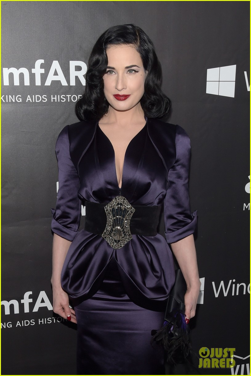 Michelle Rodriguez & Dita Von Teese Take The Plunge At Amfar La Inspiration  Gala 2014: Photo 3230395  2014 Amfar Gala, Dita Von Teese, Kristen Davis,
