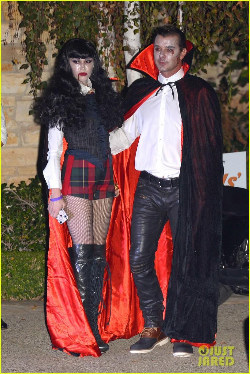 Gwen Stefani & Gavin Rossdale Vamp It Up for Halloween Party ...