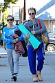 kaley cuoco promotes pet adoption during yoga outing 03