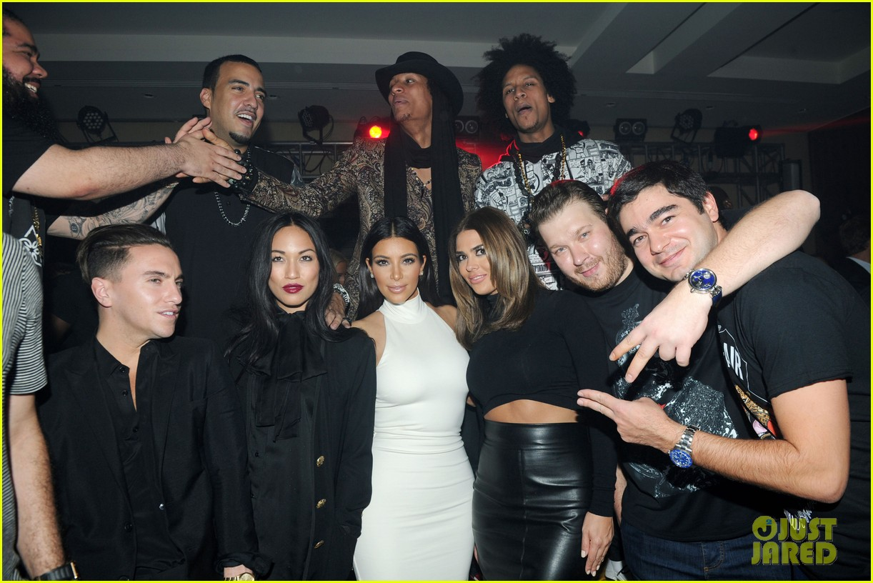 kim kardashian parties with french montana surprises the troops 073249023