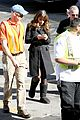 lea michele has father daughter moment on glee set 23
