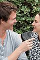 ansel elgort shailene woodley recreate bench poster tfios 06