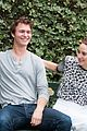ansel elgort shailene woodley recreate bench poster tfios 10