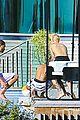 justin bieber goes shirtless at beverly hills mansion 06