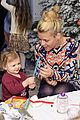 drew barrymore daughters frankie olive jessica alba holiday party 15