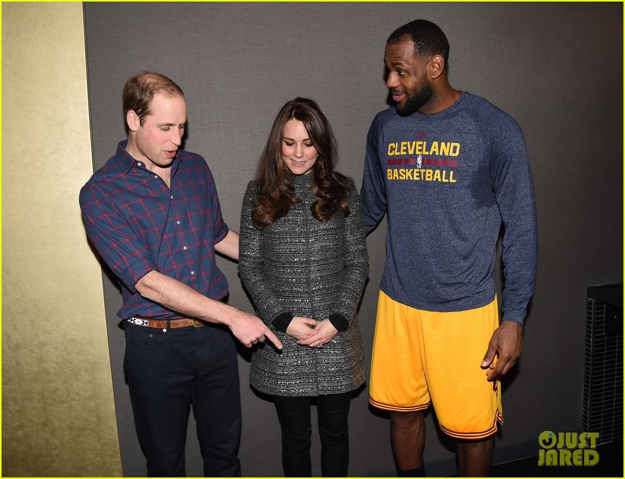 6f39f698c156 Prince William   Kate Middleton Meet  King  LeBron James
