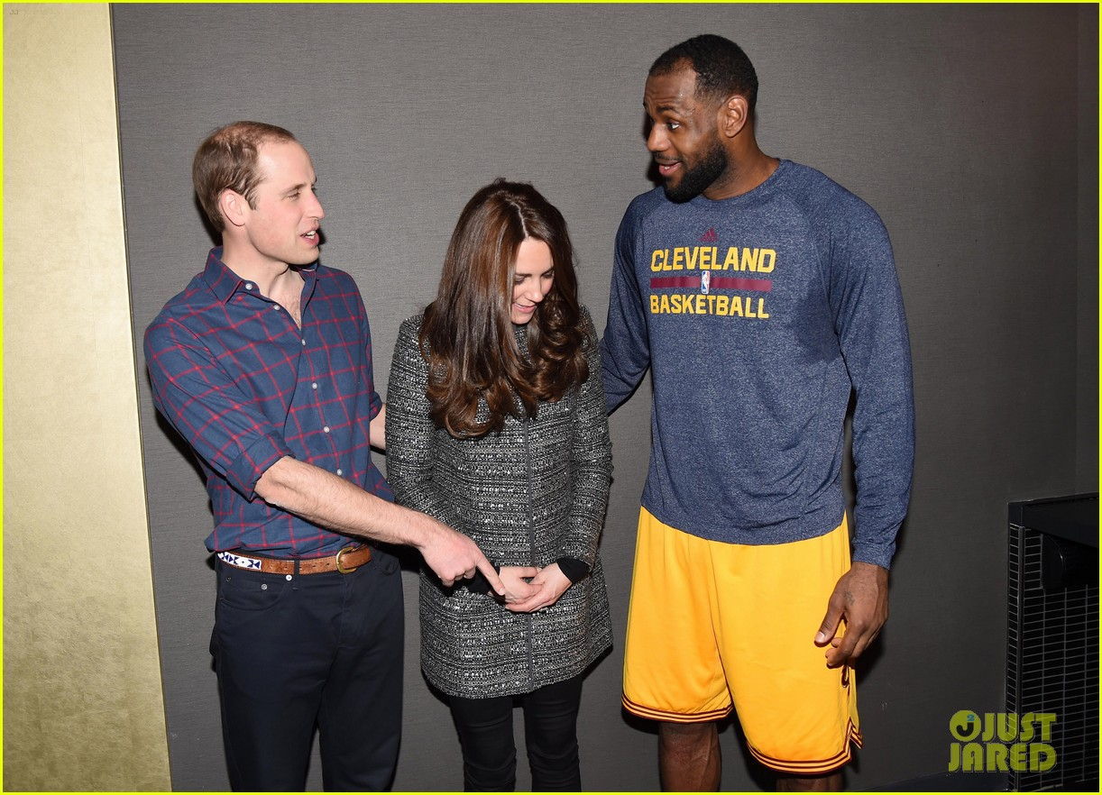 which university did william and kate meet lebron