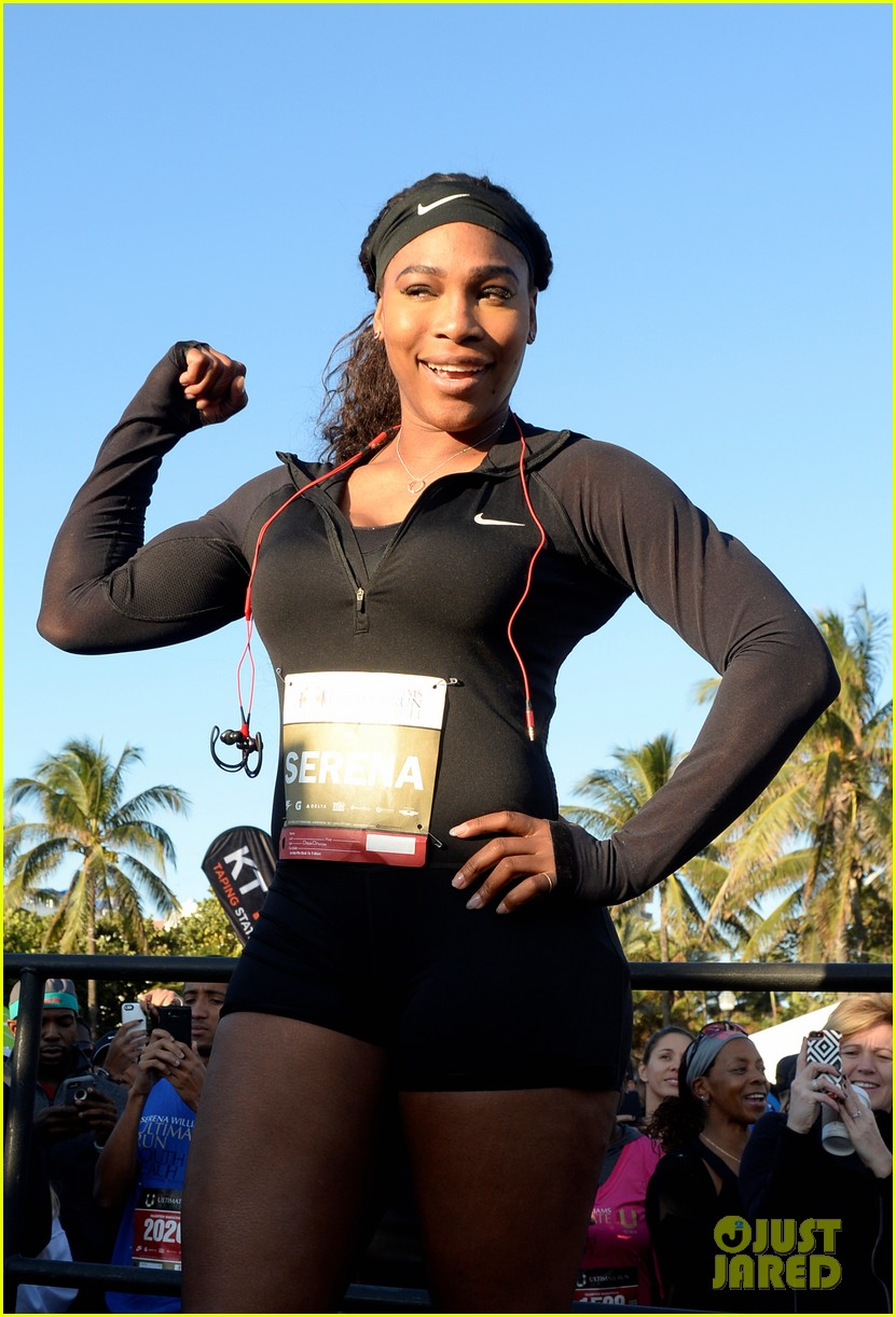 Serena Williams Wears Long Sleeved Shirts To Keep From