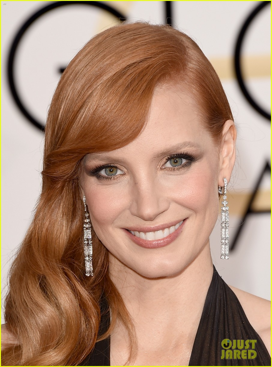 jessica chastain rocks shimmering dress at the golden globes 2015 photo 3277940 2015 golden globes jessica chastain pictures just jared