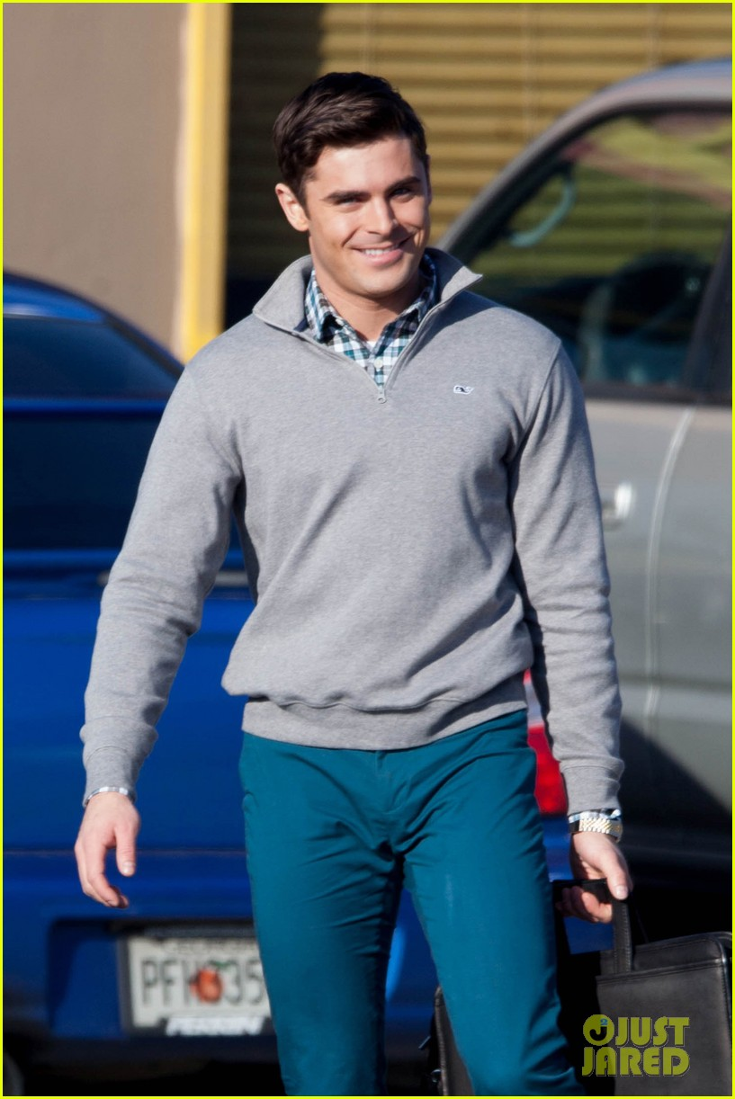 Zac Efron Looks Hot Preppy On The Set Of His New Movie Dirty