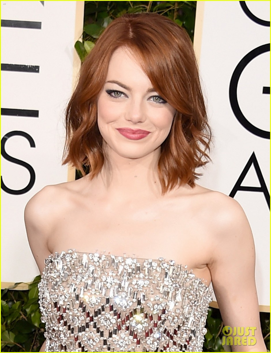 Emma Stone Rocks A Jumpsuit At Golden Globes 2015 Photo