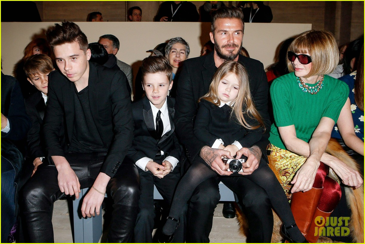 Victoria Beckham S Family Supports Her Nyfw Fashion Show