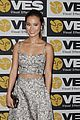 jamie chung karine vanasse get glam to present at the visual effects society 09