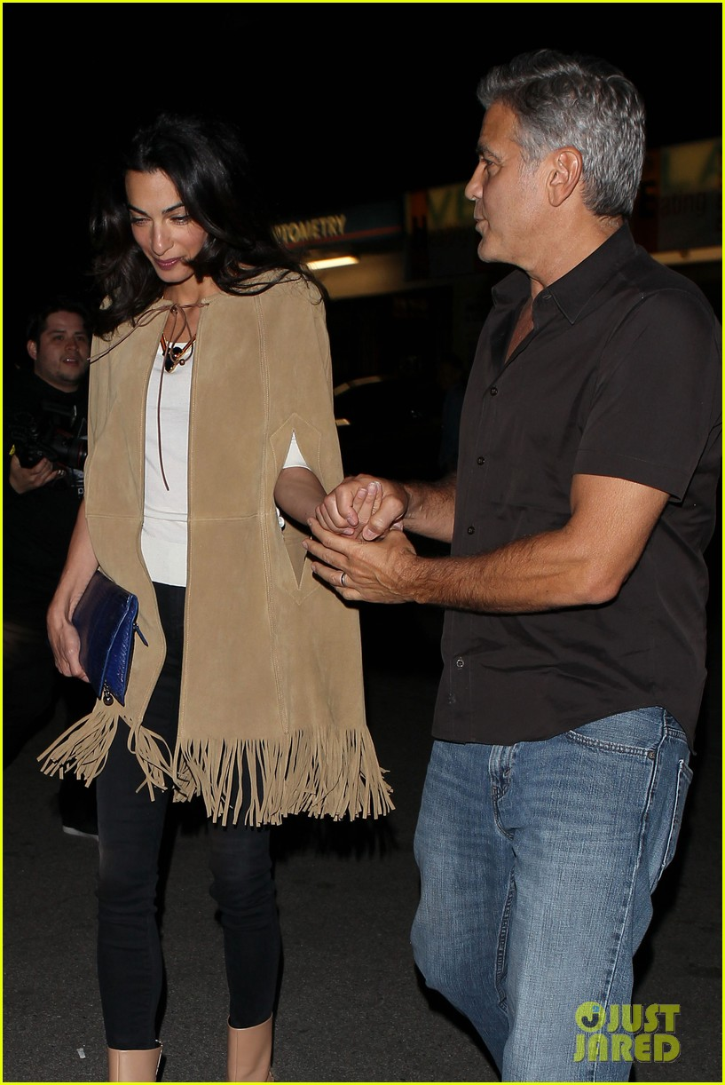 George and Amal Clooney Their First Valentine's Day George-clooney-amal-valentines-day-02