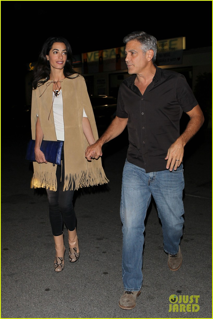 George and Amal Clooney Their First Valentine's Day George-clooney-amal-valentines-day-05