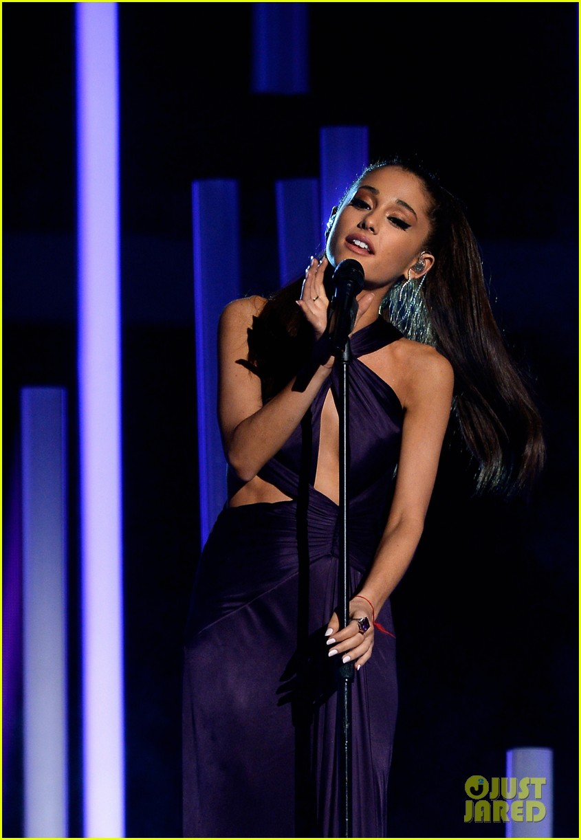 Ariana Grande Performs 'Just a Little Bit of Your Heart' at Grammys