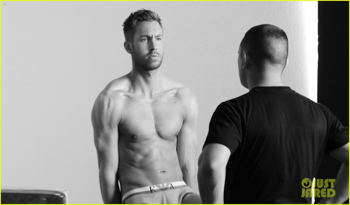 Calvin Harris Shirtless Calvin Harris Strips Down to