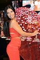 adriana lima red hot cleavage baring dress 15