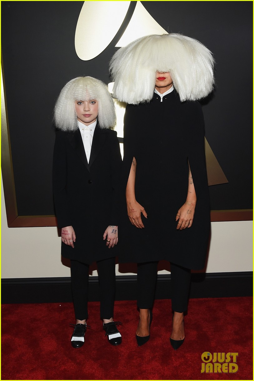 maddie wiig Sia & 'Chandelier' Dancer Maddie Ziegler Wig Out at Grammys 2015
