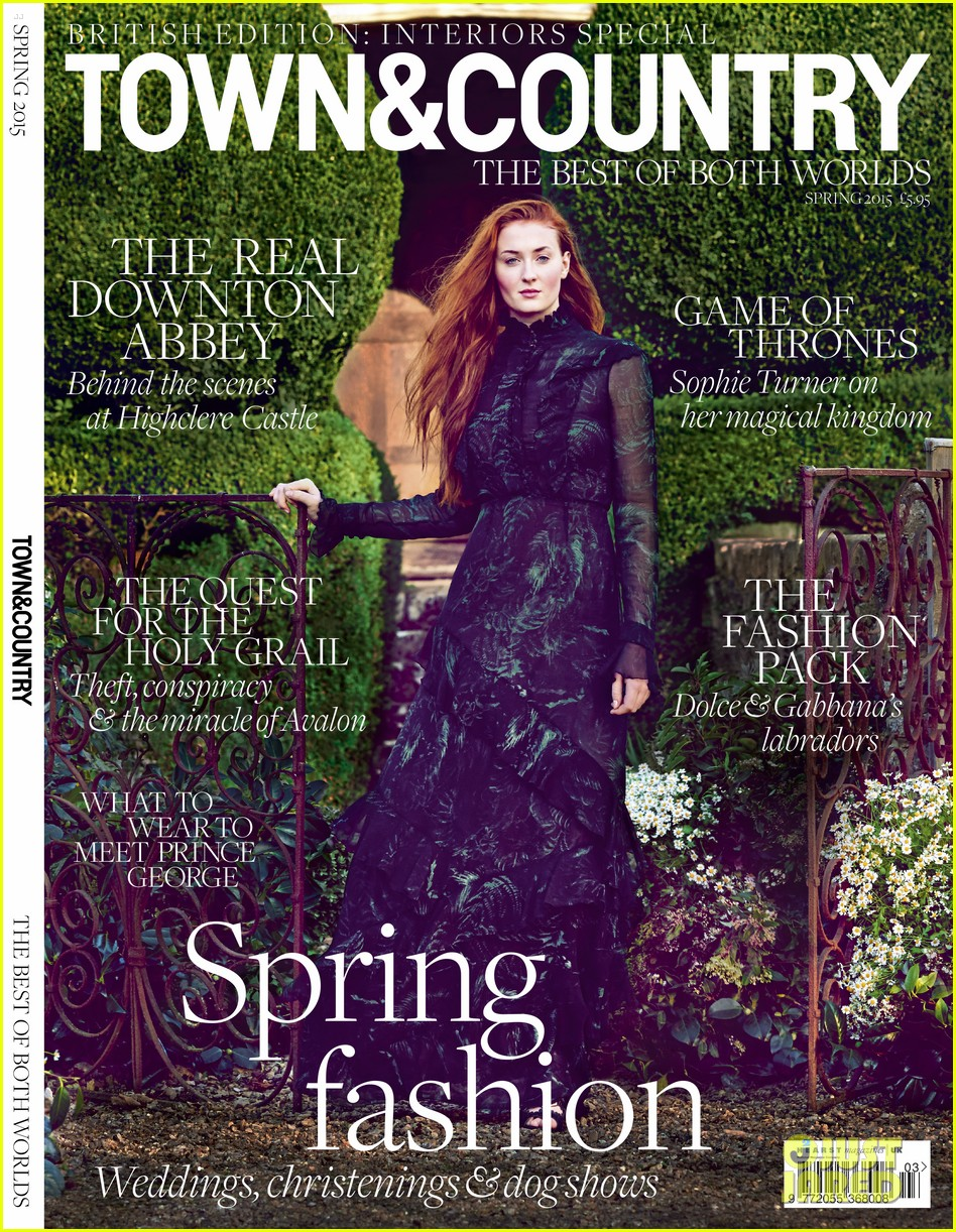 sophie turner town country feb cover 02