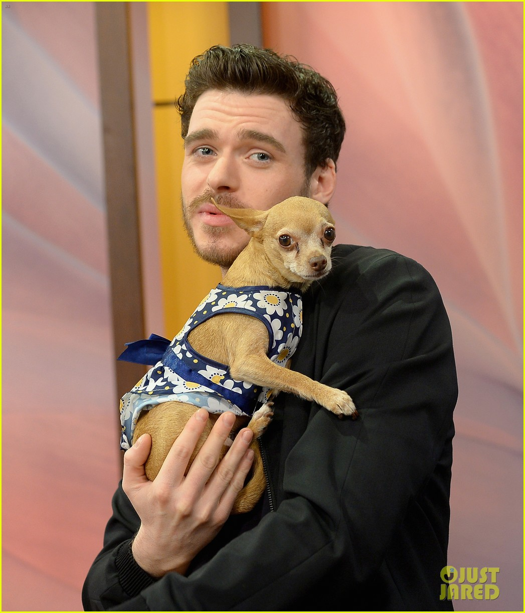Cinderella S Richard Madden Charms Us With This Cute Puppy