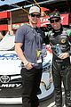 mark wahlberg rides with blake koch at drive4clots 300 02