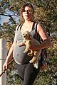milla jovovich hike with paul ws anderson pregnant 03