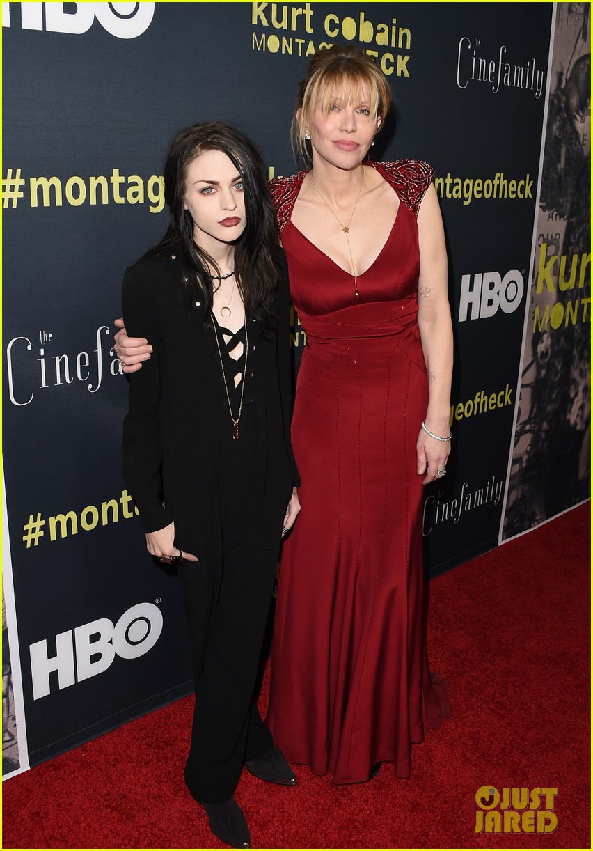 courtney love brings daughter frances bean cobain to kurt cobain montage of heck 023353098